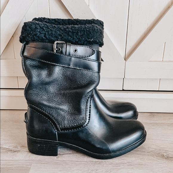 COACH BOOTS ZENA BLACK WOMENS 8
